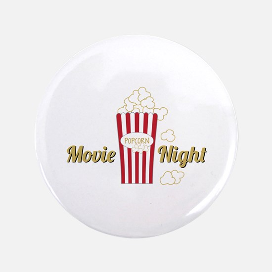 "Movie Night Popcorn 3.5"" Button"