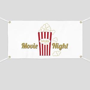 Movie Night Popcorn Banner