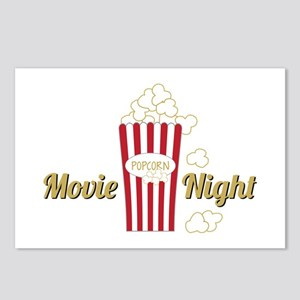 Movie Night Popcorn Postcards (Package of 8)