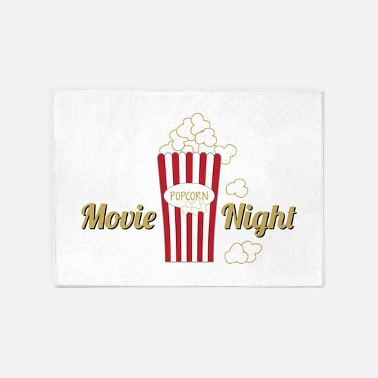 Movie Night Popcorn 5'x7'Area Rug