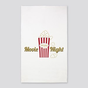 Movie Night Popcorn Area Rug