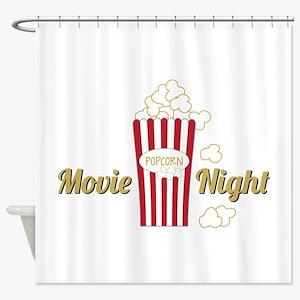Movie Night Popcorn Shower Curtain