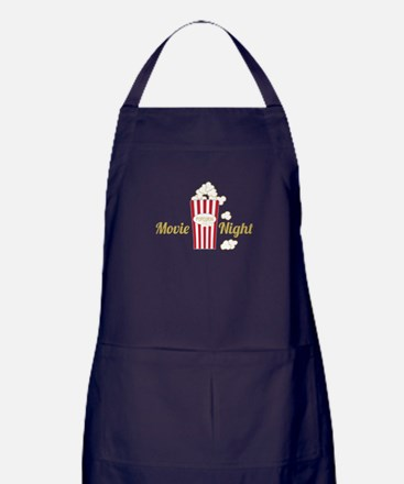 Movie Night Popcorn Apron (dark)