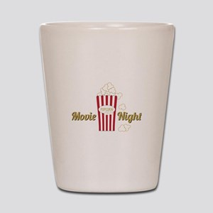 Movie Night Popcorn Shot Glass