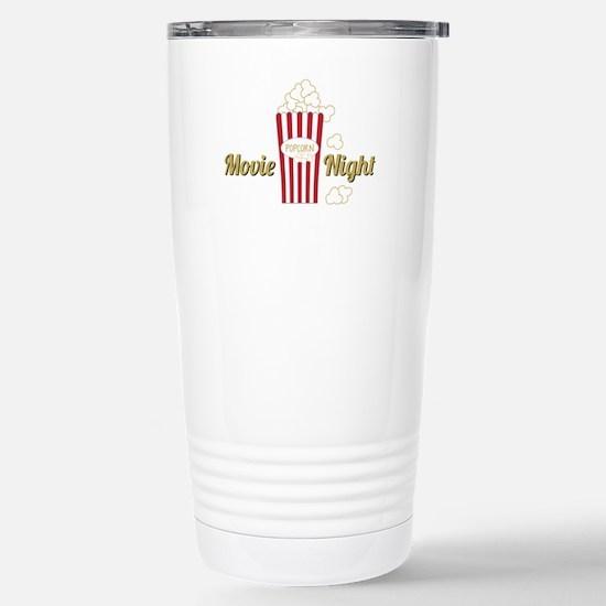 Movie Night Popcorn Travel Mug