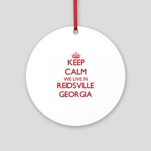 Keep calm we live in Reidsville G Ornament (Round)