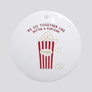 Butter and Popcorn Ornament (Round)