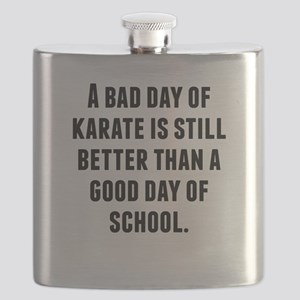 A Bad Day Of Karate Flask