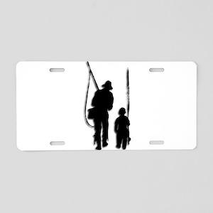 Going Fishing Aluminum License Plate
