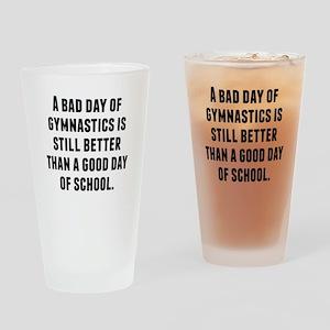 A Bad Day Of Gymnastics Drinking Glass