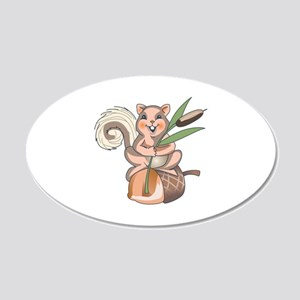 SQUIRREL ON ACORN Wall Decal