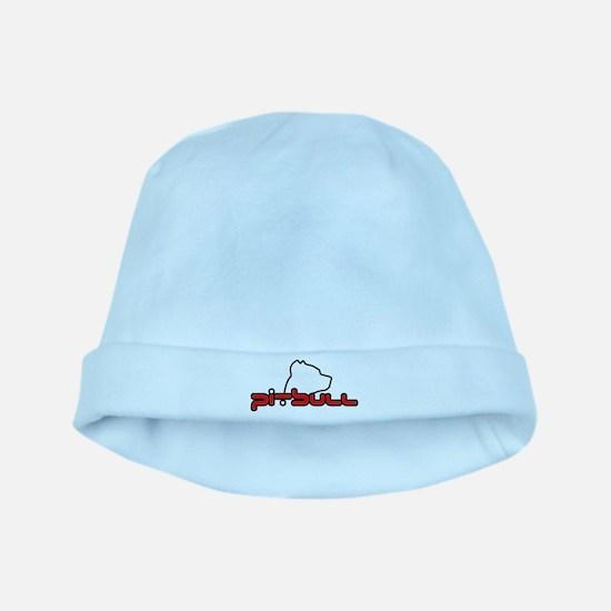 Pit Bull w/head baby hat