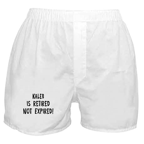 Kaleb: retired not expired Boxer Shorts