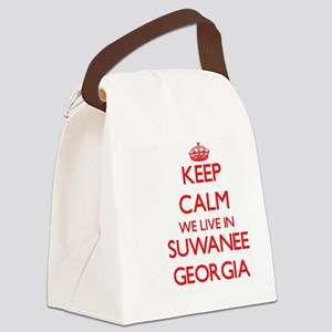 Keep calm we live in Suwanee Geor Canvas Lunch Bag