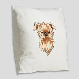 BRUSSELS GRIFFON DOG Burlap Throw Pillow