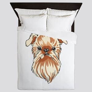 BRUSSELS GRIFFON DOG Queen Duvet