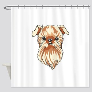 BRUSSELS GRIFFON DOG Shower Curtain