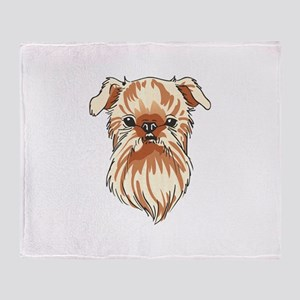 BRUSSELS GRIFFON DOG Throw Blanket