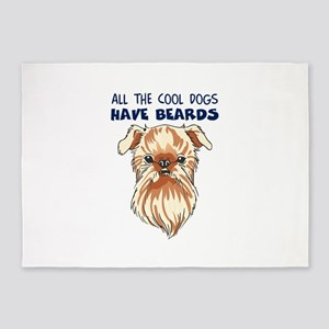 COOL DOGS HAVE BEARDS 5'x7'Area Rug