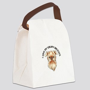LOVE MY SCRUFFY BRUSSELS Canvas Lunch Bag