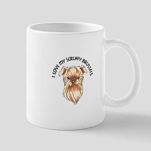 LOVE MY SCRUFFY BRUSSELS Mugs