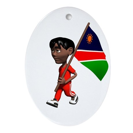 Namibia Boy Oval Ornament