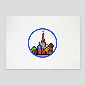 ST BASILS CATHEDRAL 5'x7'Area Rug