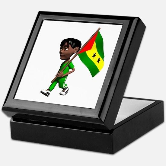 Sao Tome and Principe Boy Keepsake Box