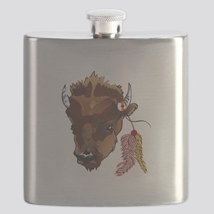 BUFFALO WITH FEATHERS Flask