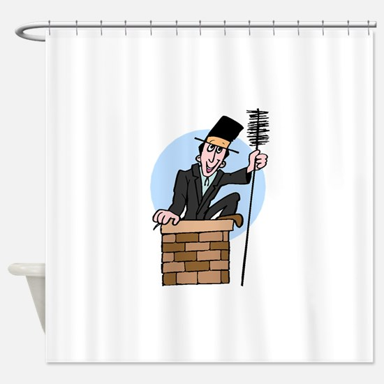 Chimney Sweep Shower Curtain