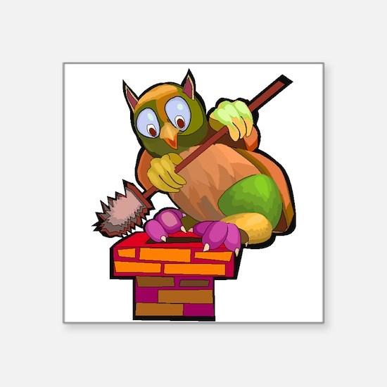 Chimney Sweep Owl Sticker