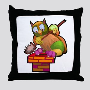 Chimney Sweep Owl Throw Pillow