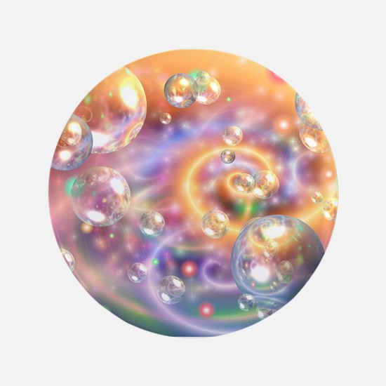 "Colorful Floating Orbs 3.5"" Button"