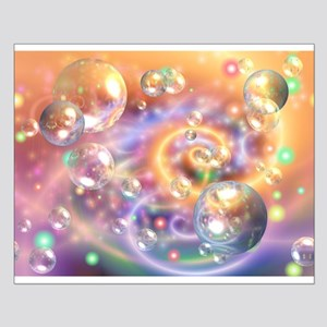 Colorful Floating Orbs Posters