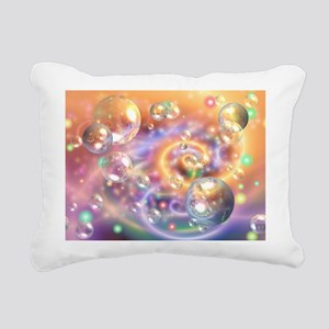 Colorful Floating Orbs Rectangular Canvas Pillow