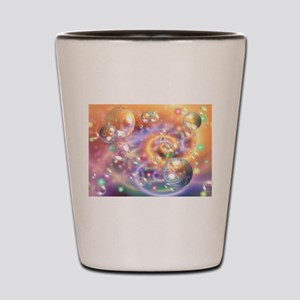 Colorful Floating Orbs Shot Glass