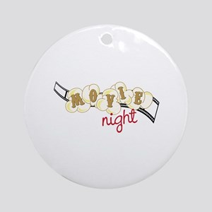 Popcorn Movie Night Ornament (Round)