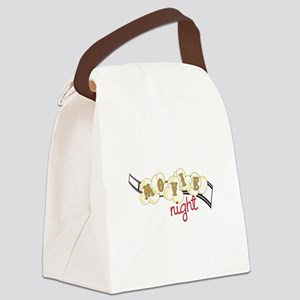 Popcorn Movie Night Canvas Lunch Bag