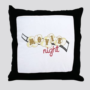 Popcorn Movie Night Throw Pillow