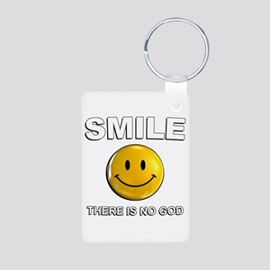 Smile, There Is No God Keychains