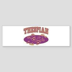Thespian Drama Mask Sporty Bumper Sticker