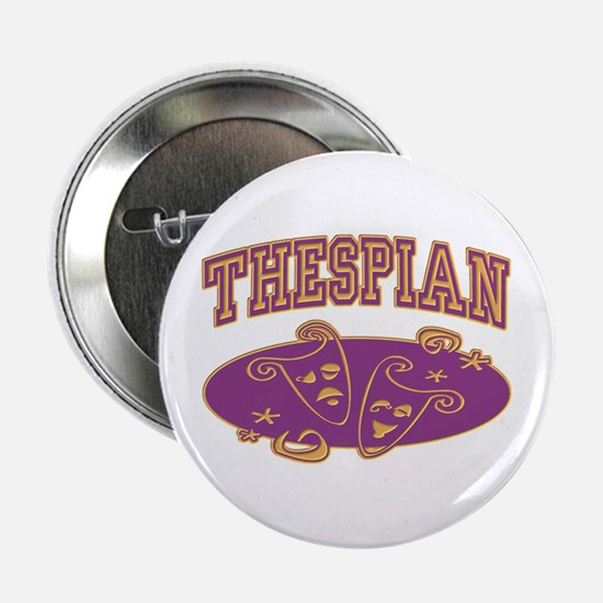 Thespian Drama Mask Sporty Button