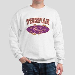 Thespian Drama Mask Sporty Sweatshirt