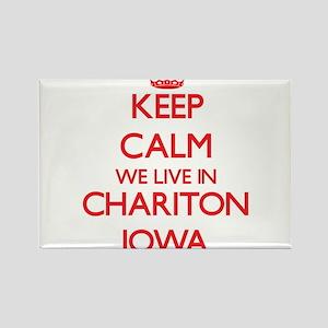 Keep calm we live in Chariton Iowa Magnets