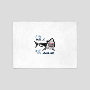 HELLO SURFERS 5'x7'Area Rug