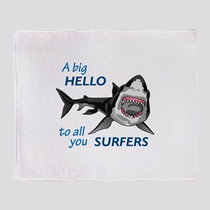 HELLO SURFERS Throw Blanket
