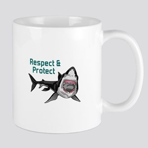 RESPECT AND PROTECT Mugs