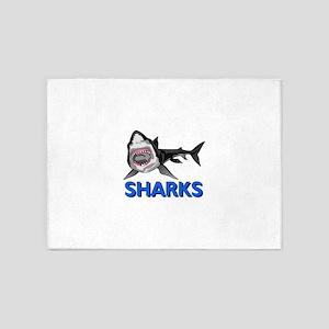 SHARKS MASCOT 5'x7'Area Rug