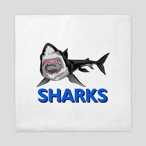 SHARKS MASCOT Queen Duvet