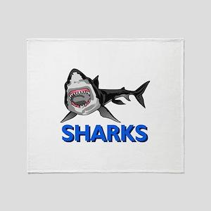 SHARKS MASCOT Throw Blanket